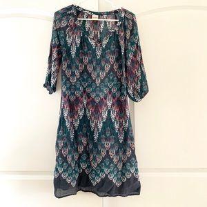 3/$15 Sonoma Ikat V-neck lightweight dress